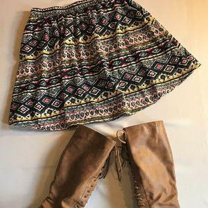 Xhilaration Multi Colored Pattern Skirt